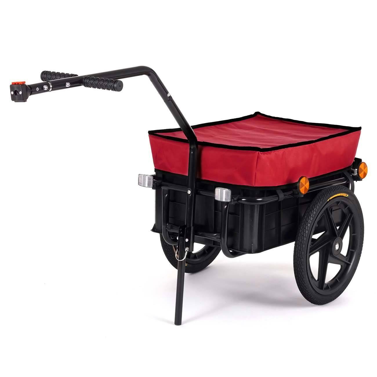 Remolque para Bici Bicicleta Cesta extraible Rueda Neumaticos Carga 60 kg   70L