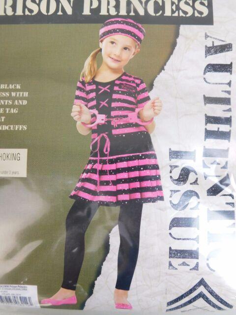 Fun World Pink Prison Princess Girlu0027s Jail Bird Halloween Costume Size XL 14-16  sc 1 st  eBay & Prison Princess Pink Child Costume Handcuffs 14-16 | eBay