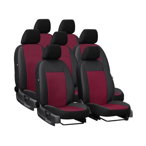 Autositzbezüge für Chevrolet Orlando 10-18 7-Sitze Dunkel Rot Set Schonbezüge