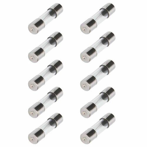 10pcs 0.3A 5x20mm Fast Blow Glass Tube Fuse 0.3 Amp