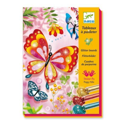 Djeco Kreativ Set Glitzerbilder Butterflies inkl Glitter