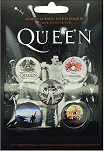 Queen-Freddie-Mercury-pack-of-5-round-pin-badges-rz