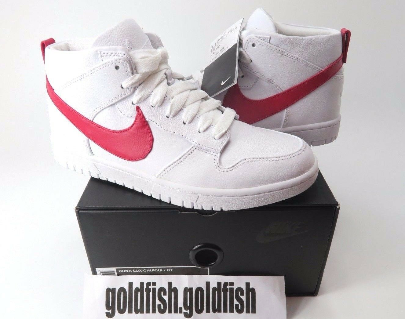 d10a7433bf DS NIKE DUNK RT 910088 100 WHITE RED TISCI CHUKKA RICCARDO ...