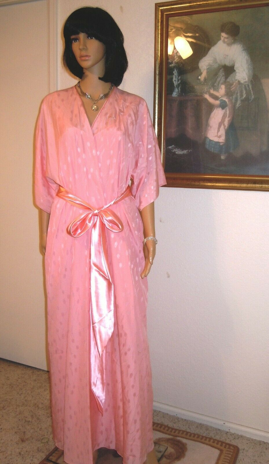 CLAIRE SANDRA by LUCIE ANN BEVERLY HILLS VTG CORAL PINK Peigblack Set size Small