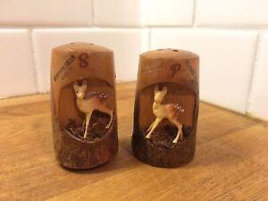 Vintage Deer Salt /& Pepper Shakers