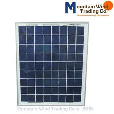 12 Volt 10 Watt 15W max Polycrystalline 36 Cell Solar Panel with alligator clips