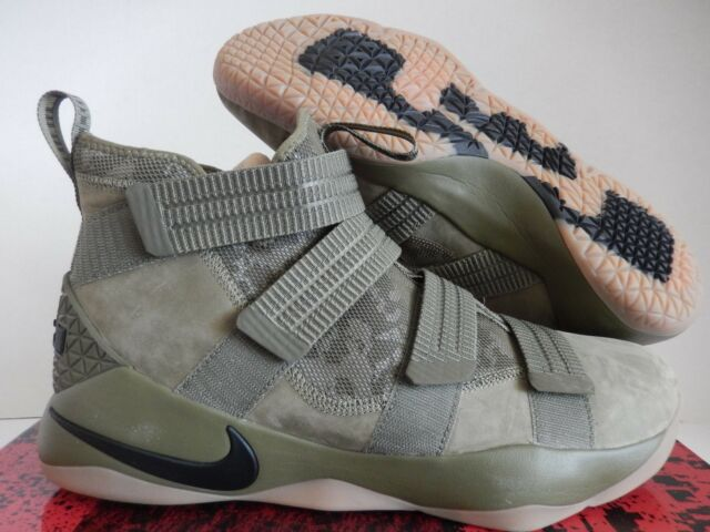 2a6dcc786c9c Nike Lebron Soldier XI SFG Medium Olive   Black 897646 200 Sz 14 for ...