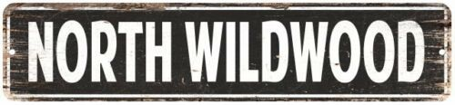 North Wildwood Vintage Look Personalized Metal Sign Chic 4x18 104180008238