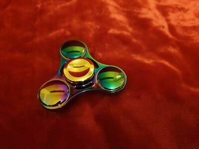 Aluminium Fidget Spinner Finger Kreisel Spielzeug für die Hand regenbogenfarben