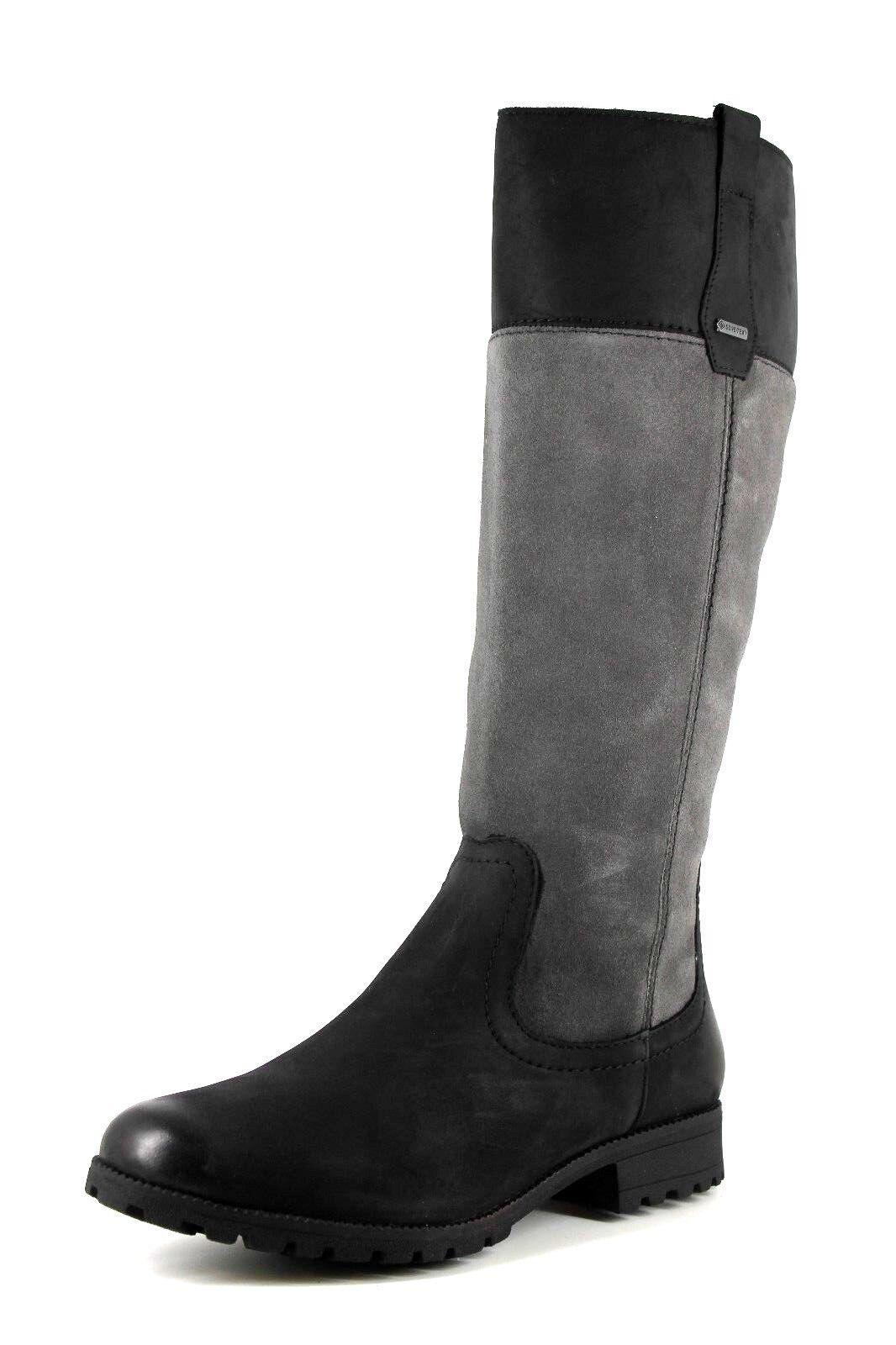 Hotter Marlowe GTX ? ? ? GORE-TEX pour femme GRIS NOIR hautes bottes hautes | Digne  daf245