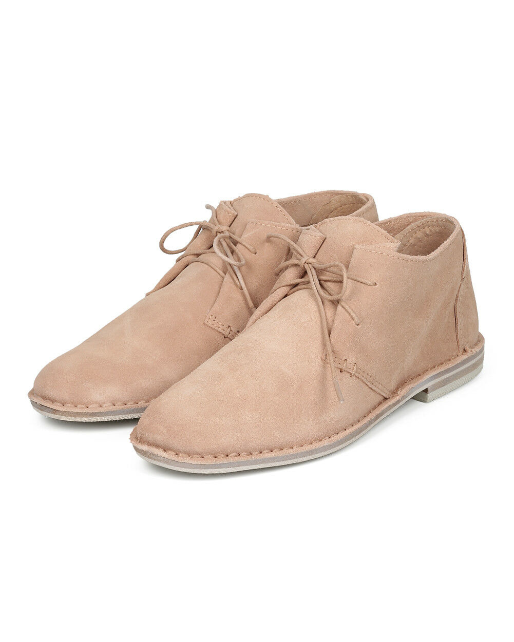 New Donna Dolce Round Vita GWYN Suede Round Dolce Toe Lace Up Desert Ankle Bootie 61a6df