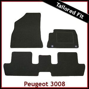 Peugeot-3008-Mk1-2009-2016-Tailored-Fitted-Carpet-Car-Floor-Mats-BLACK