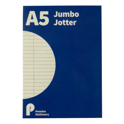 A5 Jumbo Refill Writing Jotter Notepad - 300 Pages - Ruled - Size 210mm x 148mm