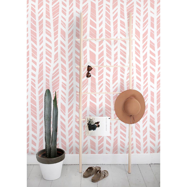Herringbone Pastel Non-Woven wallpaper Geometric wall mural Simple Home decor
