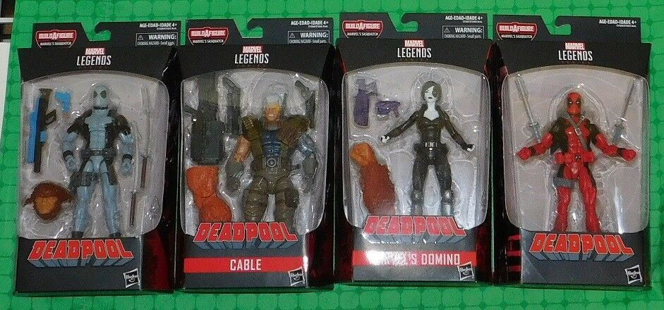 2018 Marvel Legends Series - Lot of of of 4 - w/ Deadpool, Cable & Marvel's Domino 36e9e6