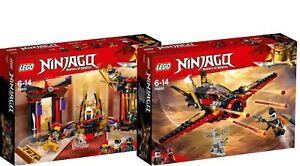 LEGO Ninjago Dragon 70651 und 70650 Duell im Thronsaalr Flügel-Speeder N6/18