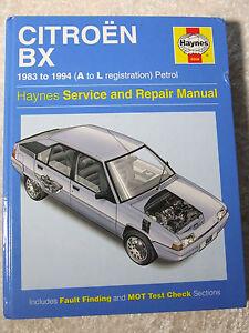 citroen bx 1983 1994 petrol haynes service repair manual 0908 ebay rh ebay co uk citroen bx repair manual citroen zx service manual pdf