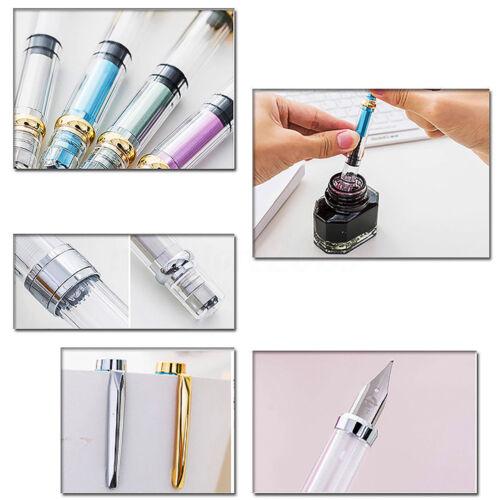 14 Colors Aluminum Metal WING SUNG 6359//3008 Fountain Pen Extra Fine Nib 0.38mm