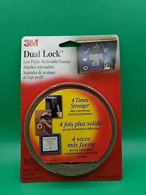 3M Scotch SJ4570 Dual Lock Low Profile Reclosable Fastener x 10 ft. 5//8 in