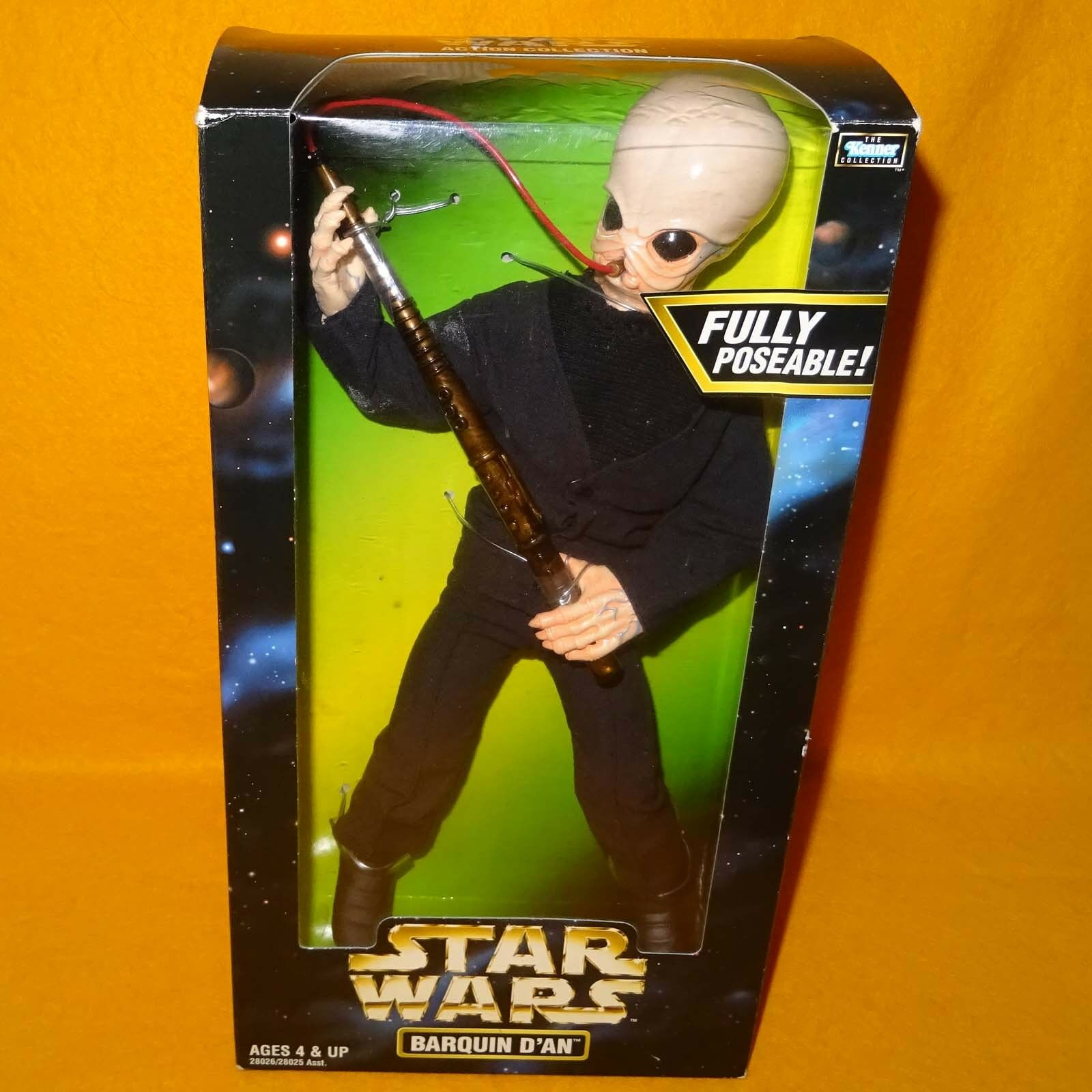 1998 HASBRO STAR WARS THE KENNER COLLECTION BARQUIN D'AN 13  ACTION FIGURE BOXED