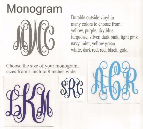 BUY TWO GET ONE FREE Monogram vinyl decal for Popsocket Script//Vine font