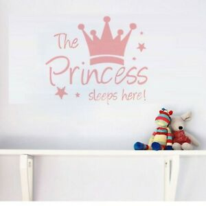 The-Princess-Crown-Wall-Decal-Are-Decor-for-Girl-Bedroom-Nursery-Home-Pink