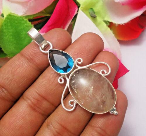 Dichroic Glass Necklace Fancy Glass Jewellery Dichroic Glass Necklace Jewellery 925 Sterling Silver Overlay Handmade Necklace Jewelry