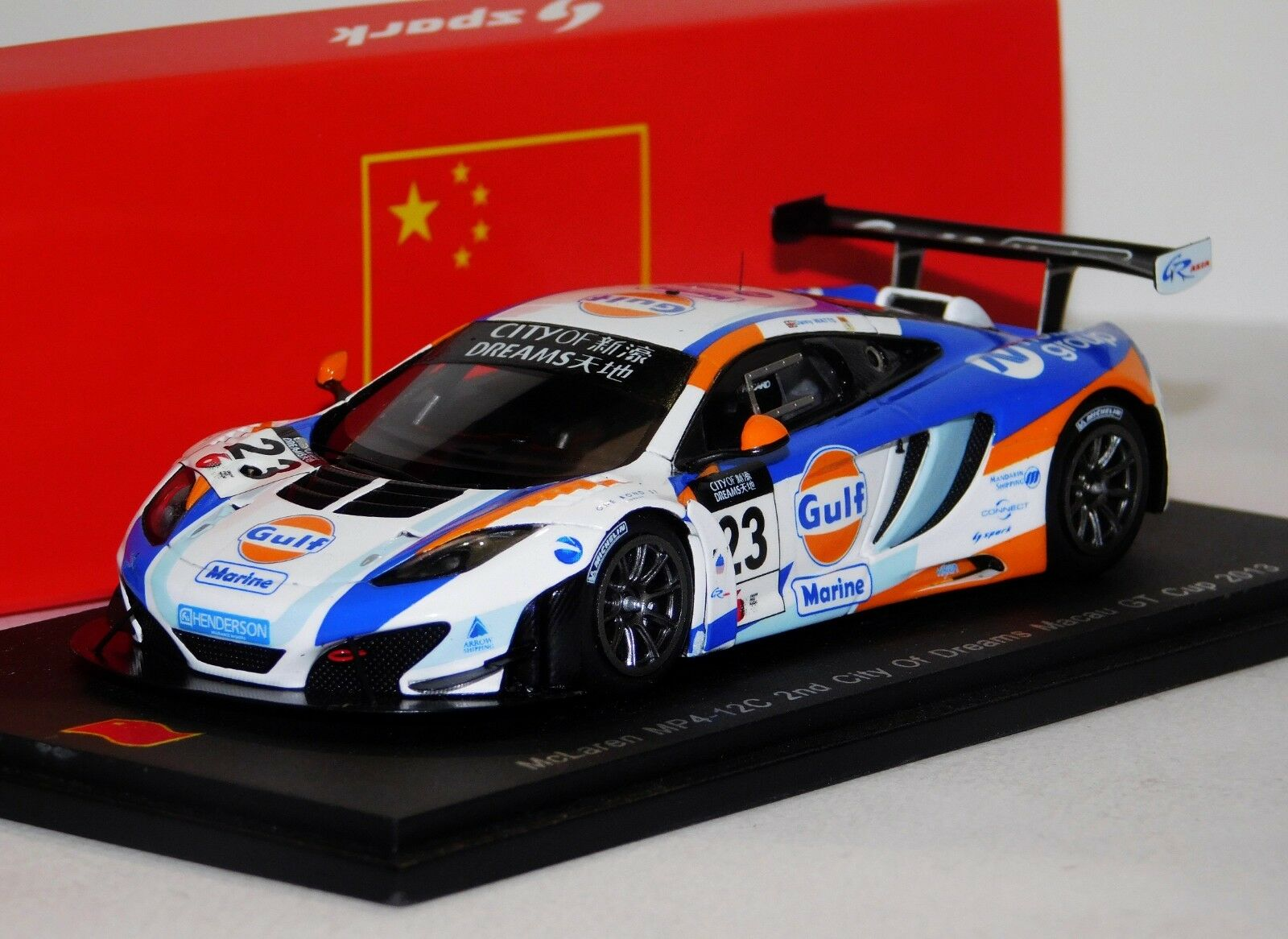McLaren MP4 12 C 2nd City of Dreams Macau GT Cup 2013 lim. Spark SA056 1 43