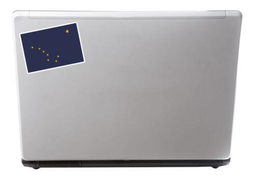 2 x 10cm Alaska Flag Vinyl Decal Sticker Laptop Car Tablet USA America #9003