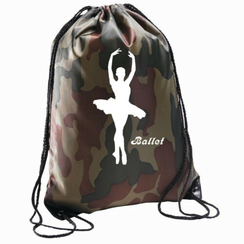 Sac Ballet avec cordon de serrage sac à dos Gymsac Pe École De Danse Sac Ballerine Gym Varsity