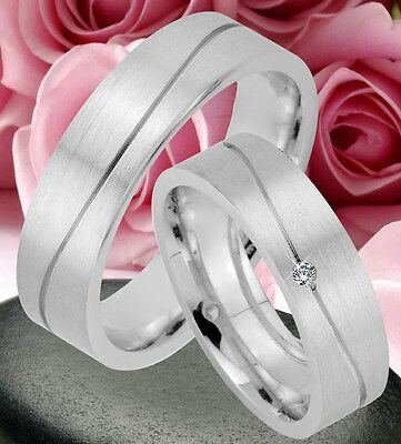 2 Ringe Trauringe Eheringe Dr Mit 4 Steine , Silber 925 , Gravur Gratis , Jk39-4 Feines Handwerk