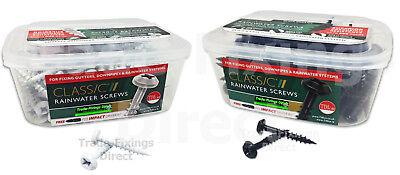 "6.0 x 40mm CLASSIC RAINWATER SCREWS PVCu SCREWS GUTTER DOWNPIPE 12 x 1 1//2/"""