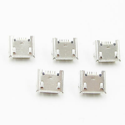 20Pcs Micro USB Type B Female Socket 4 Vertical Legs fixed Solder Connectors New