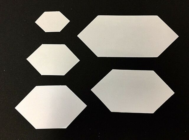 Pre-cut ELONGATED HEXAGON Paper Pieces for English Paper Piecing 100/Pack   EHEX