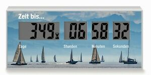 Countdownuhr, Rückwärtszähler, Countdowner Bis Zur Freizeit, Zum Urlaub Am Meer Schmerzen Haben