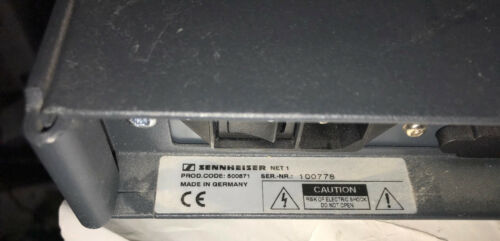 Sennheiser NET 1 Frequency Management Network System