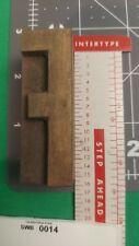 Vintage Wood Type Letterpress Printing Block Wooden Letter F