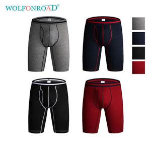 Packs-Mens-Spandex-Boxer-Briefs-Lot-Performance-Active-Long-Leg-Underwear-Sports