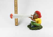 Rasta Bob Marley Reggae Marjuana in Resina - 5323 Statuetta porta canna