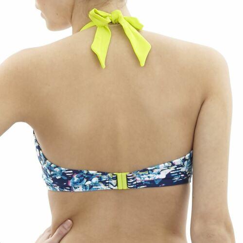 Panache Cleo Swimwear Blaire Triangle Bikini Top Floral Stripe CW0255