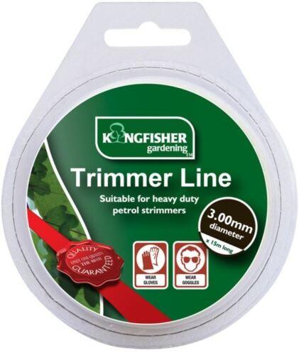 Trimmer line Heavy Duty Strimmer Garden Grass Bush Weed 3 mm Replacement Roll 15 m