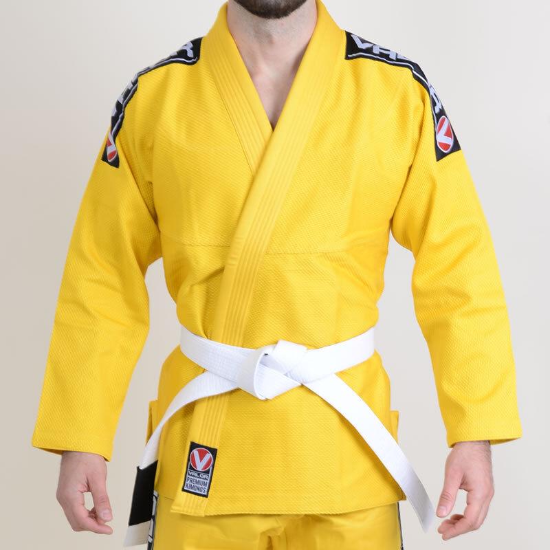 Valor Bravura BJJ GI Yellow   FREE White Belt