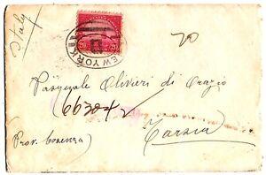 Stati-Uniti-U-S-A-1926-cent-20-su-busta-per-l-039-Italia