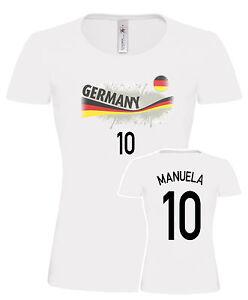 new styles af513 617d3 Details zu Damen Shirt, Deutschland Shirt, Deutschland Trikot, XS- 3XL +  Druck