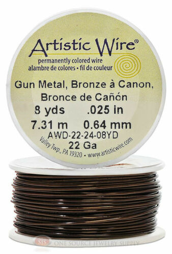 Gun Metal Artistic Craft Wire 24Feet 7.31 Meters Jewelry Beading Crafts 22 Gauge