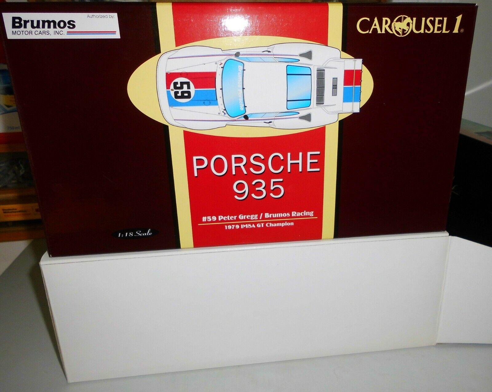voitureousel 1 18 Brumos Porsche 935, Peter Gregg  BNIB  qualité de première classe