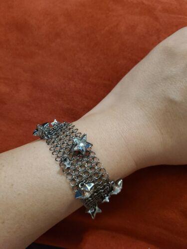 Swarovski Swan signed crystal  star mesh bracelet - image 1