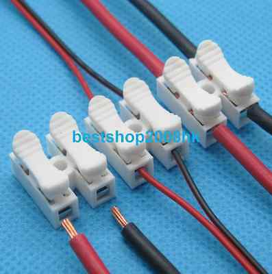 10x 2p Spring Connector wire with no welding no screws for led strip