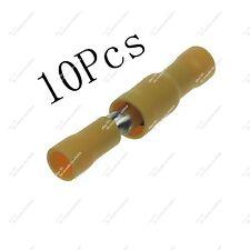10pcs Insulated Wire Crimp Lugs Set Thru Bullet Spade Butt terminals 12~10AWG
