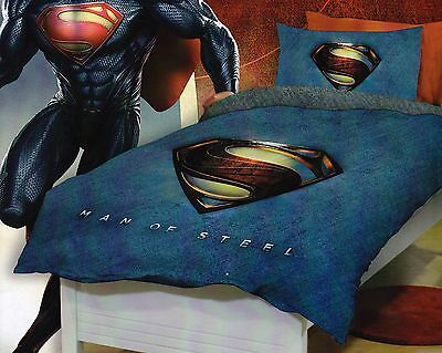 SUPERMAN Man of Steel Queen Size Quilt Cover Set New
